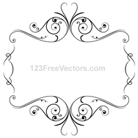 Floral Ornament Frame Vector Graphics by 123freevectors