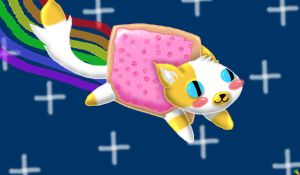 Cake the Cat as Nyan Cat by Karen73
