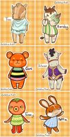 ACNL Characters -Commississions by scribblin