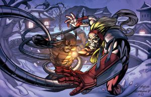Wolverine Vs. Omega Red by RyanStegman