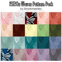 1920s Waves Pattern Pack by ShoriAmeshiko