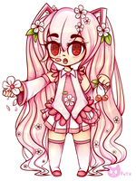 Cherry Blossom Sakura Miku by PurpleNightTheKitty