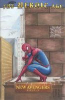 Spider-Man (New Avengers) Sketch Comic Cover by DenaeFrazierStudios