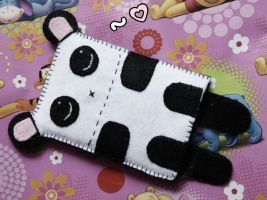 Panda Mobile Phone Case by Toxic--Berry