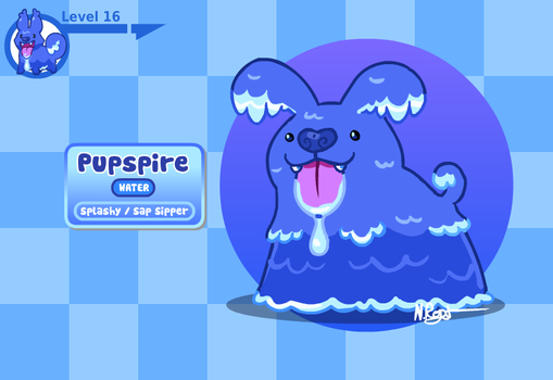 Fakemon: Perspiring Pupper by The-Knick