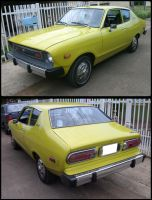'76 Datsun B210 rear and front by Mister-Lou