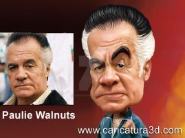 Sopranos cartoon- Pauli Walnut by caricatura3d