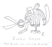 Zombie Barber by SonicEdge7
