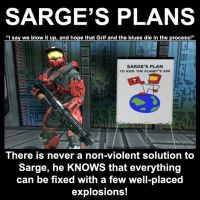 Sarge's Plans Demotivational by Drohung-DragonNinja