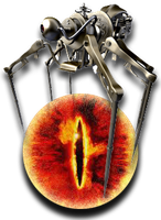 Steampunk Sauron Chrome Icon by yereverluvinuncleber