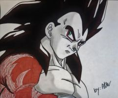 SSJ4 Vegeta by WatersDBZArt