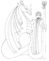 King Baragund and His Dragon by obiwankatie
