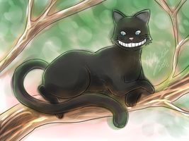 Cat in a Tree by Colours07
