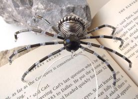 Metal Beaded Christmas Spider Ornament by curiouscarrie