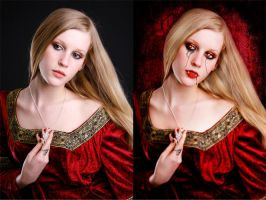 Before and After: Vampiress by Broken-Loner