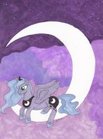 Luna Sitting on the moon by aussieclown