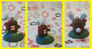 Domo-kun and a baby chick are ready for easter! by hopeless-tura