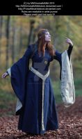 Blue Medieval Dress Lady Stock 001 by MADmoiselleMeliStock