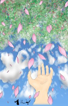 Raining Sakura Clouds by sketched1