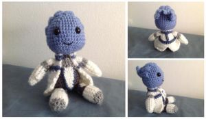 Mass Effect inspired amigurumi - Liara T'soni by ninjapoupon