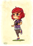 Chibi Commission Example Scarlett by tea-bug