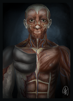 Skinless Man by HTivey