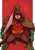 Daily Sketches Damian Wayne Robin by fedde