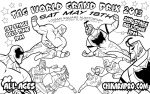 Inks chikarapro world tag by TomKellyART