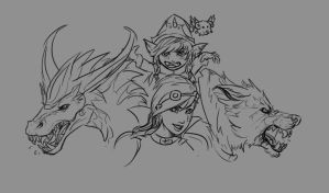 League of Legends Favourite Champions by Nidaou