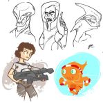 SciFi sketches by rebel-penguin