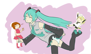 Scantily Skating Miku? :U by CaptRainbowMacMuffin