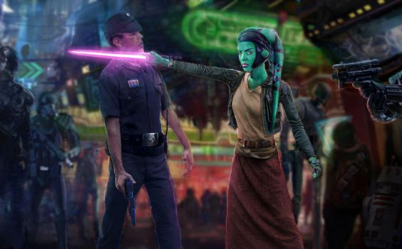 Star Wars - Stand-off on Coruscant by modji-33