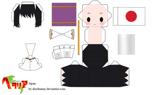 Hetalia Japan Papercraft by tsunyandere