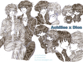 [T-R] Traditional Sketchpage: AchillesxDion by Asuhinee-Adopt