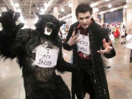 Werewolf and Vampire Kill Twilight by SilverWolfCostuming