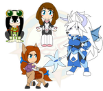 Assorted Chibis - Heros and Beasts by Dragon-FangX
