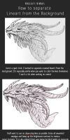 Tutorial: How to separate Lineart from Background by AbelPhee