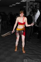 Kratos (Rule 63) from God Of War cosplay by MidnightSkyPhoto