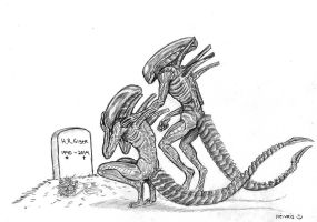 Rest in peace H.R. Giger by heivais