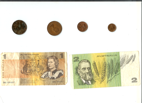 Old Australian Money by KatiesCreations