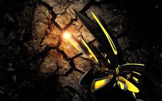 3D Abstract Wallpaper - NEW FORM by m-deviant