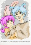 Gumball and Anais Watterson (human ver.?) by chinesedemigod