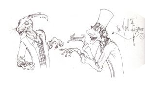 The Mad Hatter and March Hare by T-RexJones