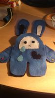 Sad Bunny Plushie -WIP by passionfyre