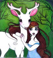 The Princess and The White Stag by PurpleMango1