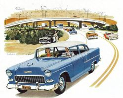 age of chrome and fins: 1955  Chevrolet by Peterhoff3
