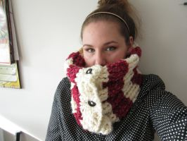 Raspberries and Cream Cowl by RaCHaeBBy
