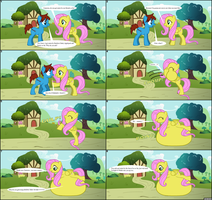 Fluttershy Swallows Cameron (MLP - FIM Vore Comic) by LGee14