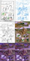 Comic page progress by Mercurio2539