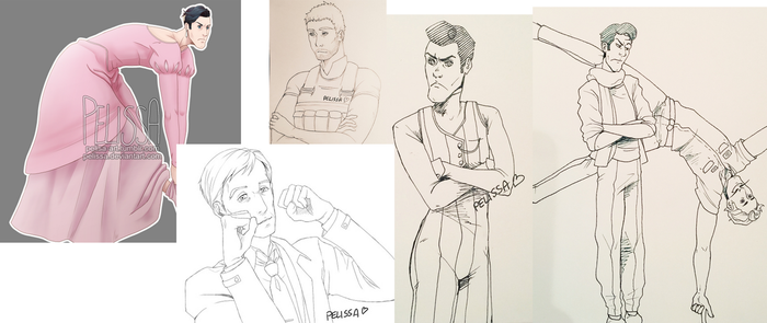 Art and sketches from January/February by Pelissa